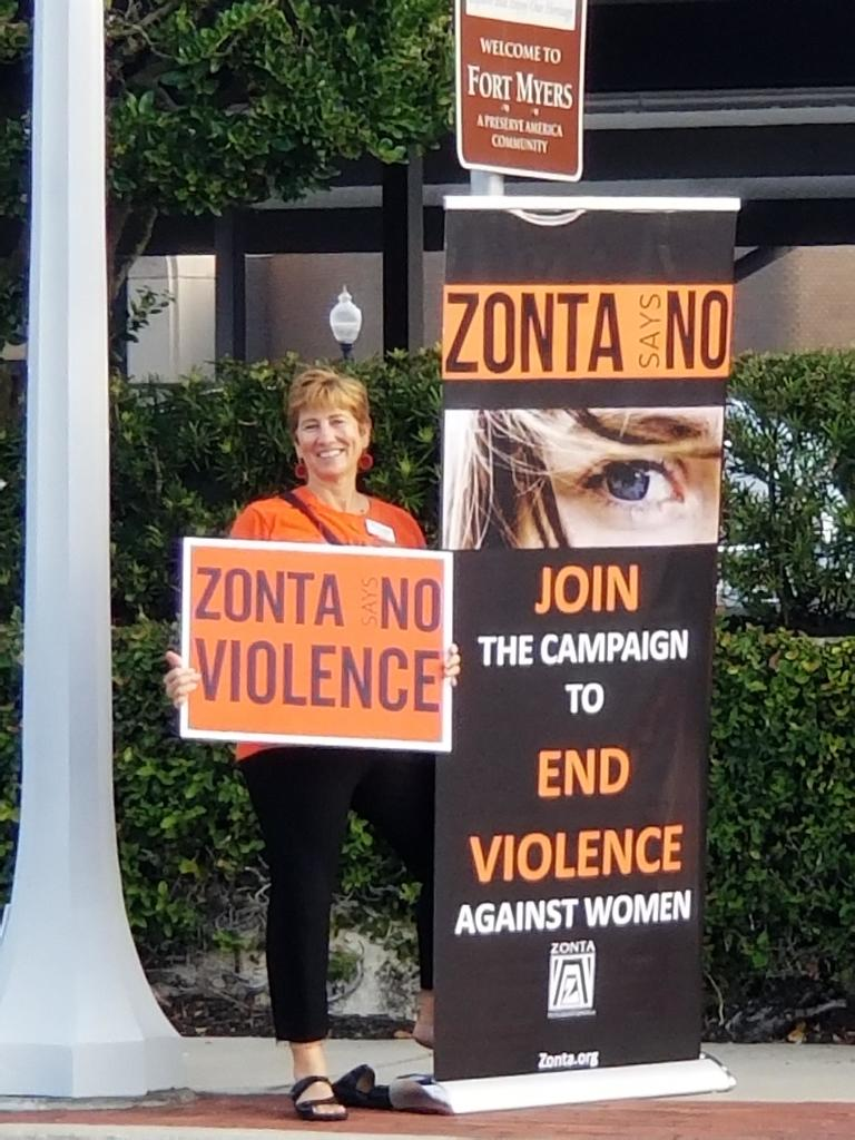 Zonta Lee County Commissioner Say No to Violence Proclamation