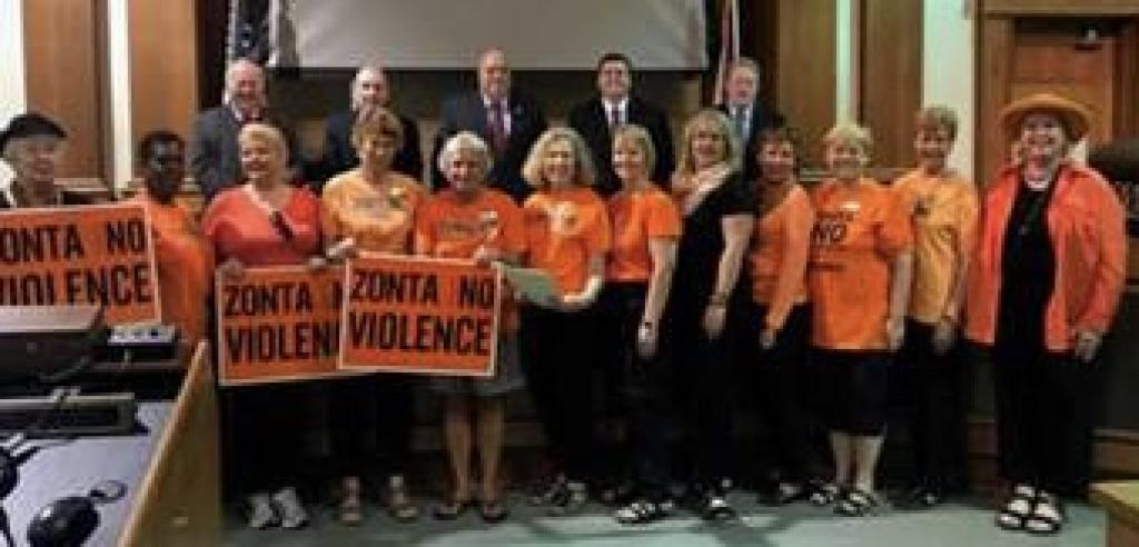 Zonta Club of Fort Myers Proclamation No To Violence