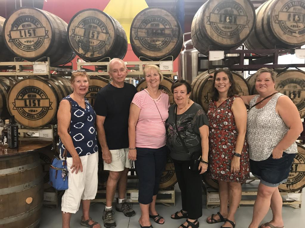 Zonta Fort Myers Members tour List Distillery for a taste of SWFL